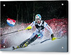 Stefano Gross On Snow Queen Trophy-zagreb Acrylic Print