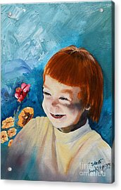 Stefi- My Trip To Holland - Red Headed Angel Acrylic Print