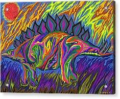 Stegasaurus Colorado Acrylic Print by Robert SORENSEN