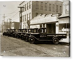 Stegmaier Brothers Inc Beer Trucks At 693 Hazle Ave Wilkes Barre Pa 1930s Acrylic Print