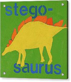 Stegosaurus Acrylic Print by Laurie Breen