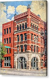 Steiner Building Acrylic Print by Phillip Burrow