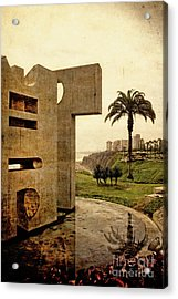 Acrylic Print featuring the photograph Stelae In The Park - Miraflores Peru by Mary Machare
