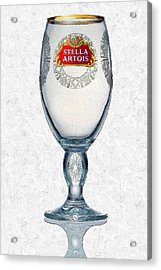 Stella Artois Chalice Painting Collectable Acrylic Print
