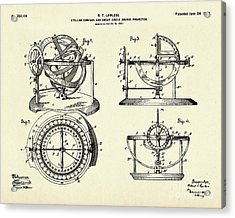 Stellar Compass And Great Circle Course Projector-1902 Acrylic Print by Pablo Romero