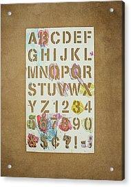 Stencil Alphabet Fun Acrylic Print by Scott Norris