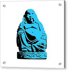 Stencil Buddha Acrylic Print by Pixel Chimp