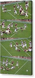 Step By Step College Football Acrylic Print