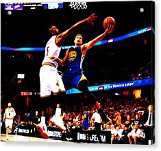 Steph Curry Left Hand Acrylic Print by Brian Reaves