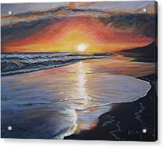 Acrylic Print featuring the painting Stephanie's Sunset by Donna Tuten