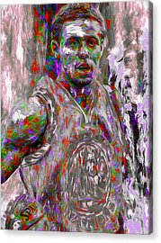Stephen Curry Golden State Warriors Digital Painting 2 Acrylic Print