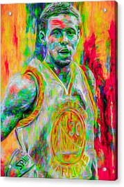 Stephen Curry Golden State Warriors Digital Painting Acrylic Print