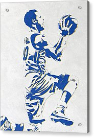 Stephen Curry Golden State Warriors Pixel Art Acrylic Print