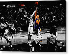 Stephen Curry Soft Touch Acrylic Print by Brian Reaves