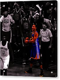 Stephen Curry Sweet Victory Acrylic Print by Brian Reaves