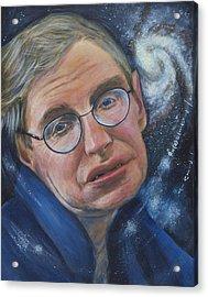 Stephen Hawking Acrylic Print by Simon Kregar