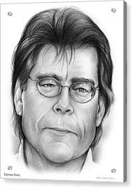 Stephen King Acrylic Print by Greg Joens