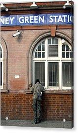 Stepney Green Station Acrylic Print by Jez C Self
