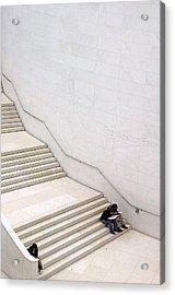 Stepping Down Acrylic Print by Jez C Self