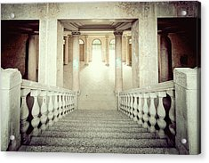 Stepping Down To Hallway Acrylic Print by Svetlana Sewell