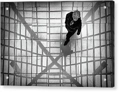 Acrylic Print featuring the photograph Stepping Into The Web by John Williams