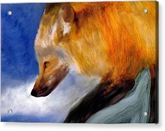 Acrylic Print featuring the painting Stepping Lightly by FeatherStone Studio Julie A Miller