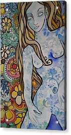Stepping Out Acrylic Print by Claudia Cole Meek