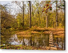 Stepping Stones At Rock Spring - Natchez Trace Acrylic Print