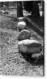 Stepping Stones Acrylic Print by Gwen Vann-Horn