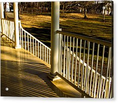 Steps And Shadows At Thomas Cole House In Catskill Acrylic Print