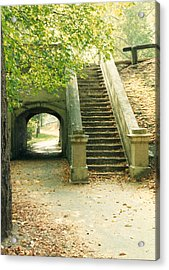 Steps And Tunnel Acrylic Print