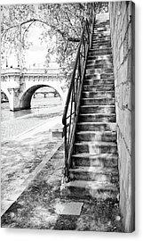 Steps By Pont Neuf, Paris Acrylic Print