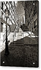 Steps In Montmartre Acrylic Print by Gerry Walden
