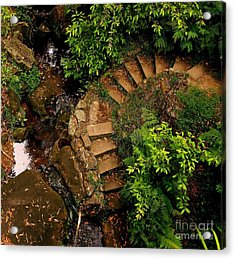 Steps Leading Up The Stairway To Heaven Acrylic Print by Blair Stuart