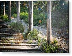 Steps Off The Beach Acrylic Print