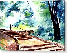 Steps To Eternity Acrylic Print by Anil Nene