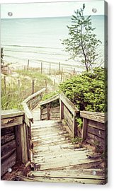 Acrylic Print featuring the photograph Steps To Lake Michigan by Joel Witmeyer