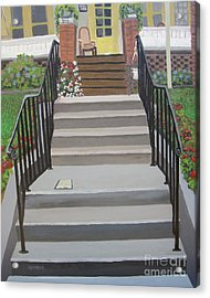 Steps To Recovery Acrylic Print by Lisa Urankar