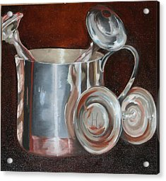 Sterling Baby Rattles In A Baby Cuo Acrylic Print by Amy Higgins