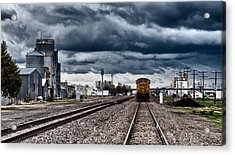 Sterling Colorado Storms Acrylic Print by Darren  White
