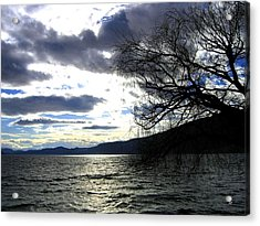 Sterling Silver Sunset Acrylic Print by Will Borden