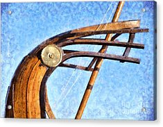 Stern Of A Full Scale Copy Of An Ancient Trireme Acrylic Print by George Atsametakis