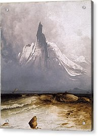 Acrylic Print featuring the painting Stetind In Fog by Peder Balke