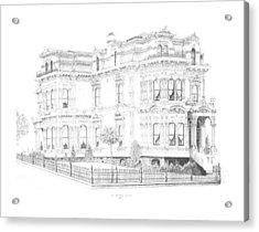 Stetson Mansion Acrylic Print by Edward Williams