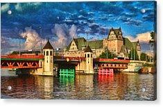 Stettin Bridge - Pol890431 Acrylic Print