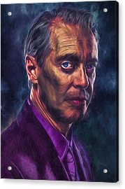 Acrylic Print featuring the photograph Steve Buscemi Actor Painted by David Haskett