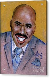Acrylic Print featuring the drawing Steve Harvey by P J Lewis
