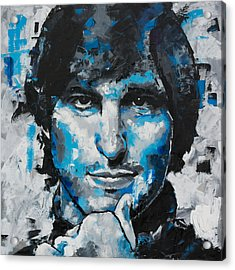 Acrylic Print featuring the painting Steve Jobs II by Richard Day