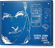 Steve Jobs Iphone Patent Artwork Acrylic Print by Nikki Marie Smith