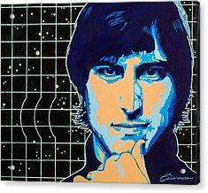Steve Jobs Acrylic Print by Joe Ciccarone